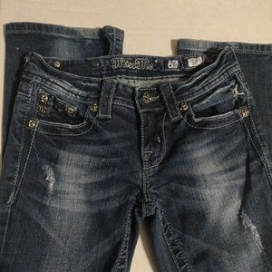 Miss Me Bootcut  Distressed Jeans 26/28 x 32